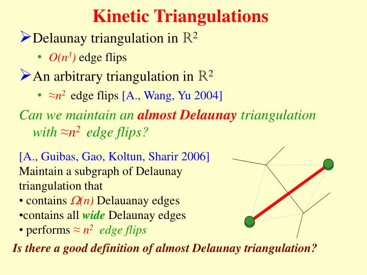 Kinetic Triangulations