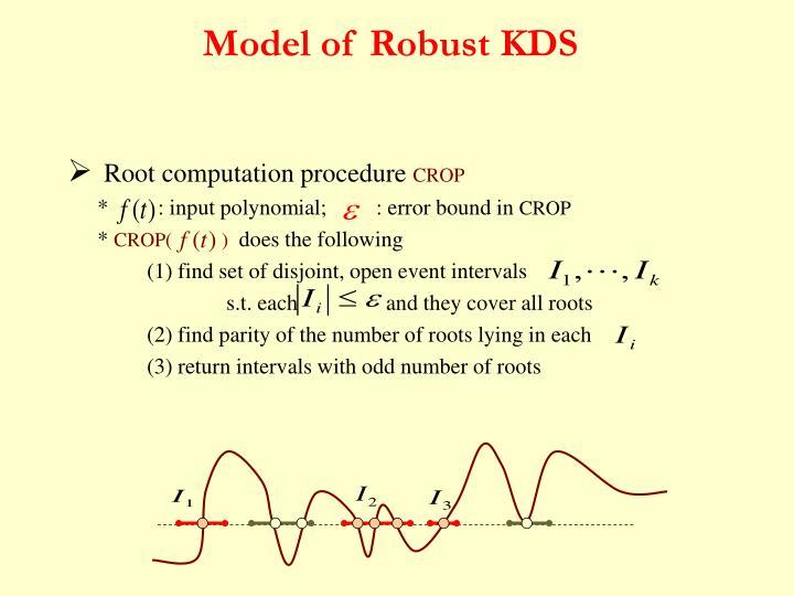 Model of Robust KDS