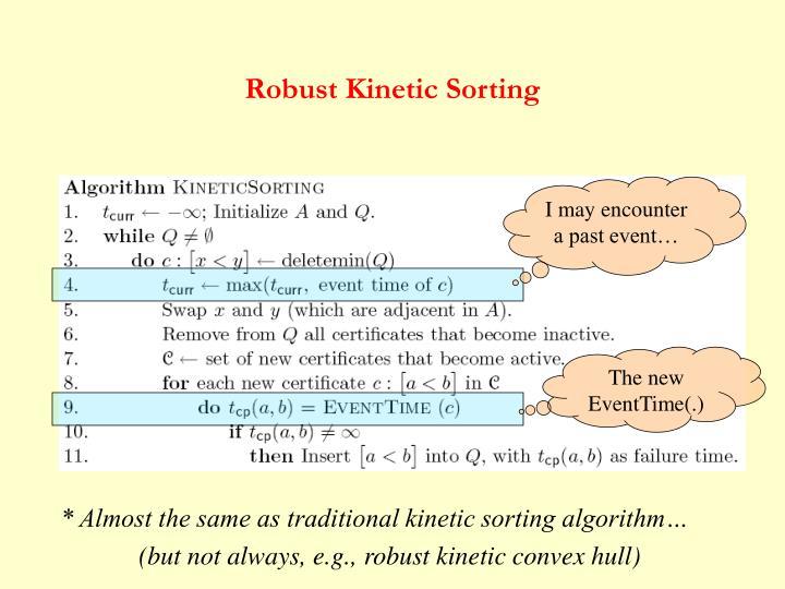 Robust Kinetic Sorting