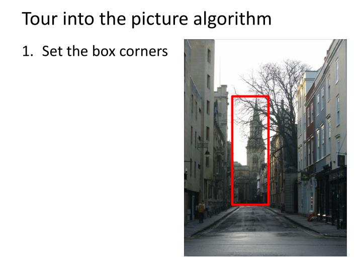 Tour into the picture algorithm