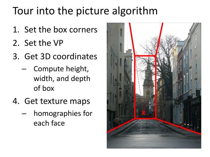 Tour into the picture algorithm