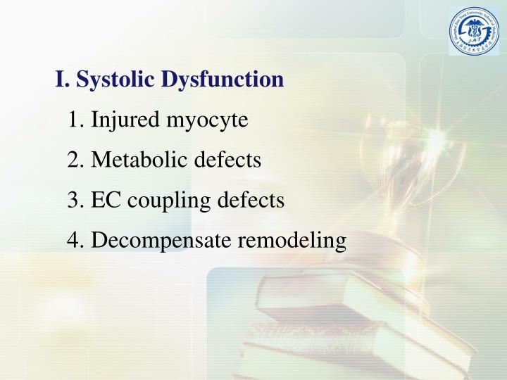 I. Systolic Dysfunction