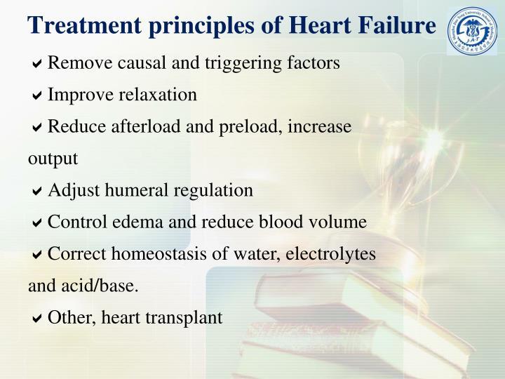 Treatment principles of Heart Failure