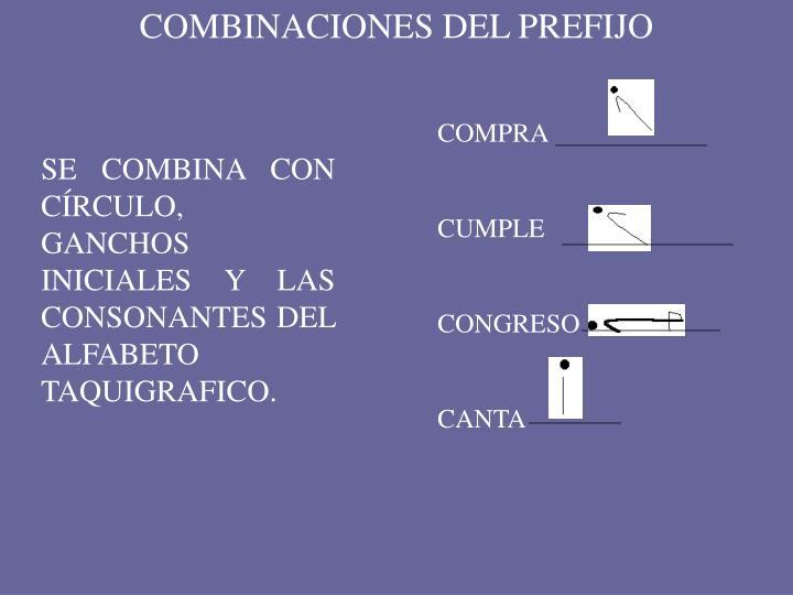 COMBINACIONES DEL PREFIJO