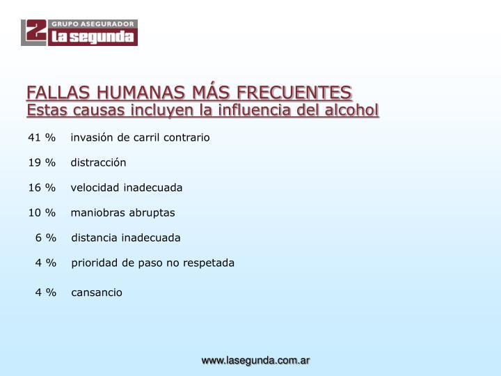 FALLAS HUMANAS MÁS FRECUENTES