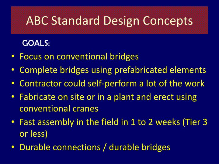 ABC Standard Design Concepts