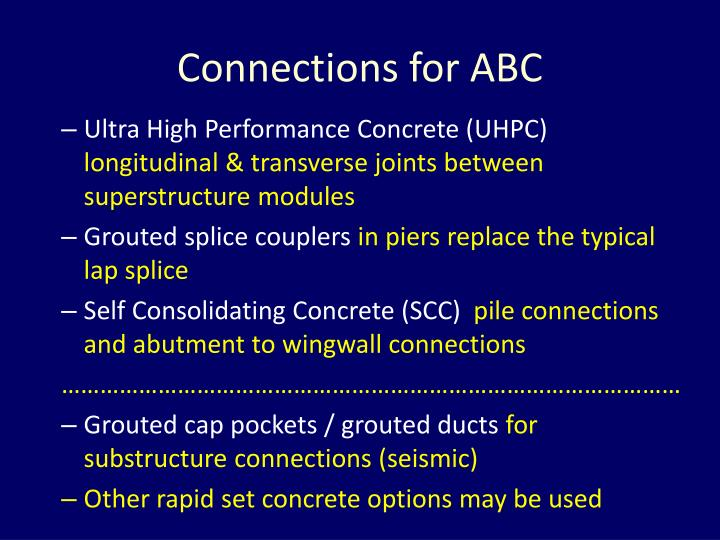 Connections for ABC