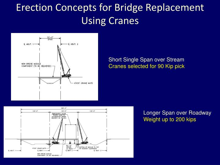 Erection Concepts for Bridge