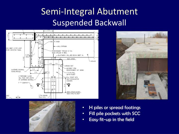 Semi-Integral Abutment