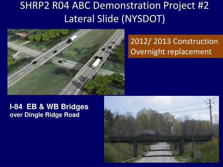 SHRP2 R04 ABC Demonstration Project #2