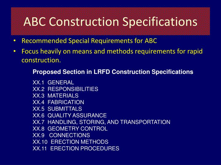 ABC Construction Specifications