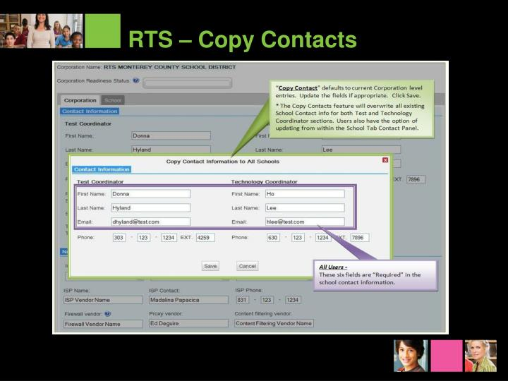 RTS – Copy Contacts