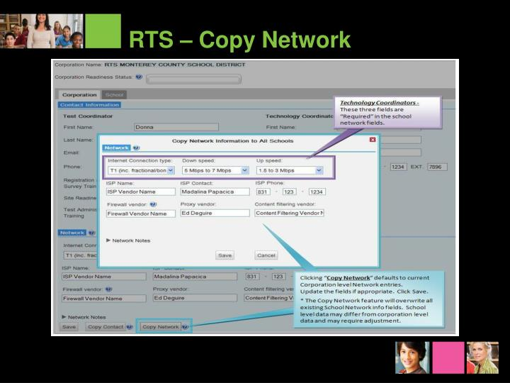 RTS – Copy Network