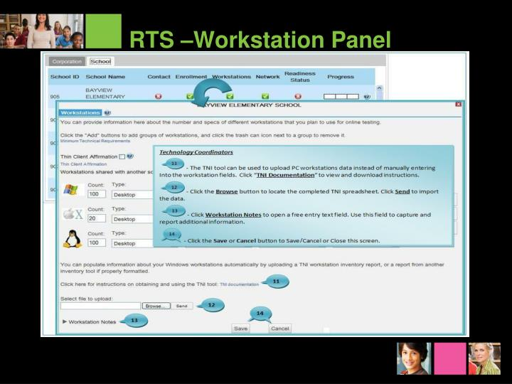RTS –Workstation Panel