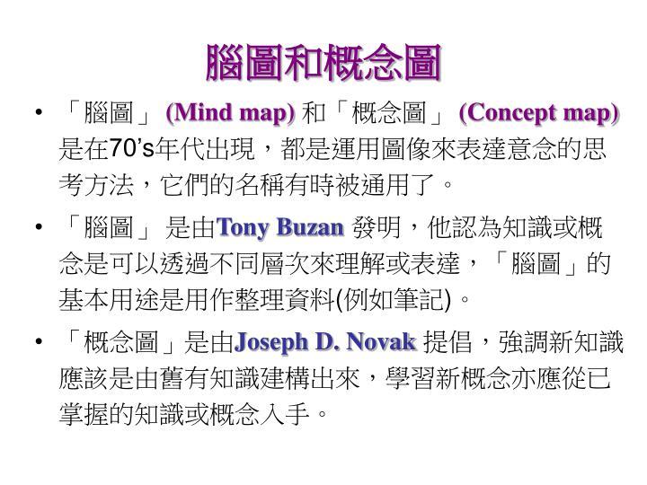 腦圖和概念圖