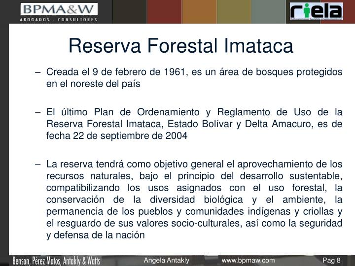 Reserva Forestal Imataca