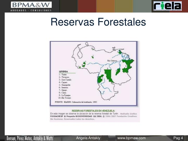 Reservas Forestales
