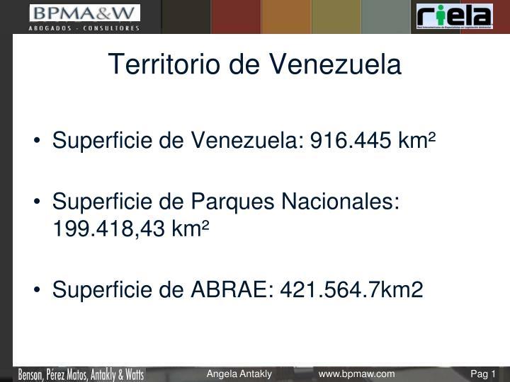 Territorio de Venezuela