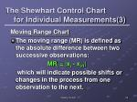 the shewhart control chart for individual measurements 3
