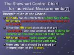 the shewhart control chart for individual measurements 7