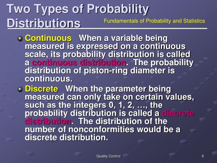 Two Types of Probability Distributions