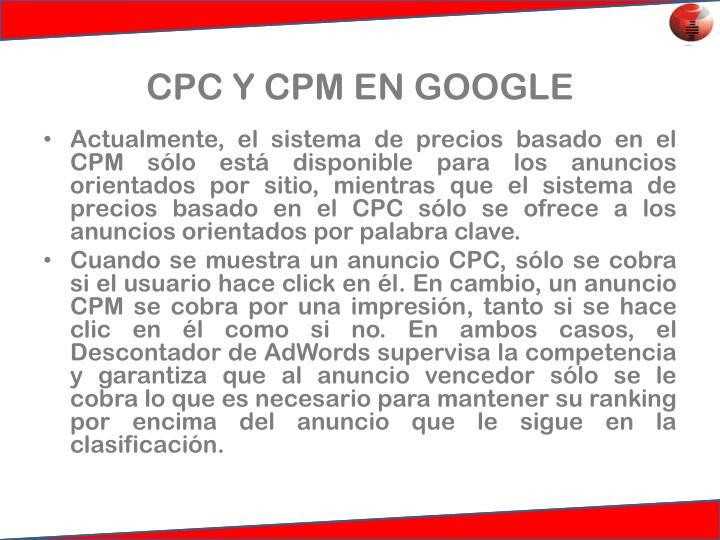 CPC Y CPM EN GOOGLE
