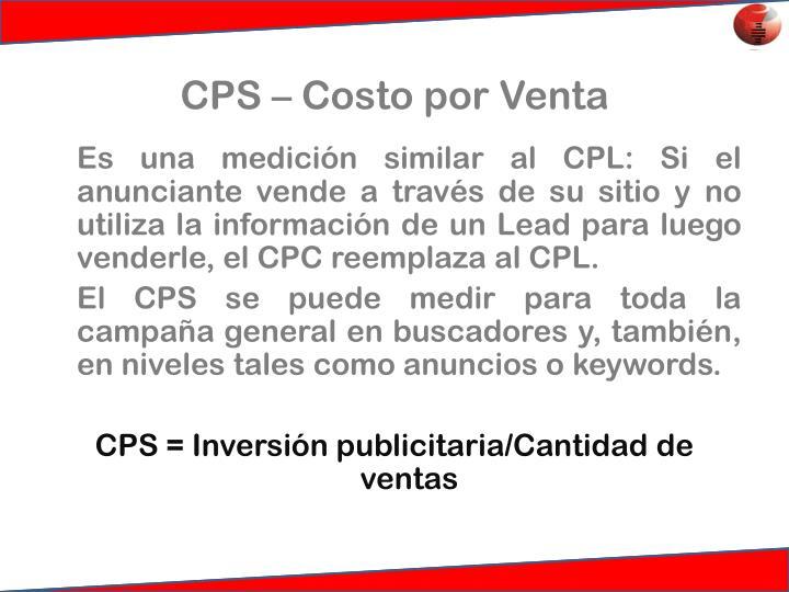 CPS – Costo por Venta