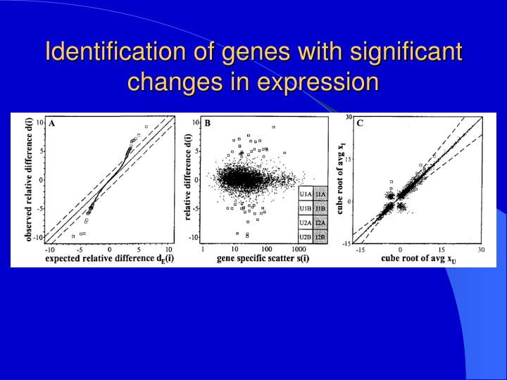 Identification of genes with significant changes in expression