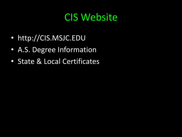Cis website