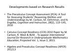 developments based on research results