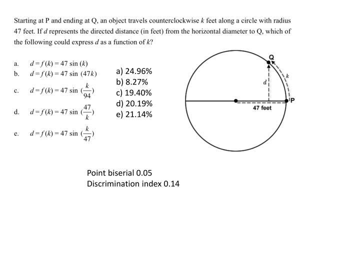 a) 24.96%        b) 8.27%              c) 19.40%         d) 20.19%          e) 21.14%