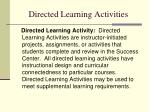 directed learning activities