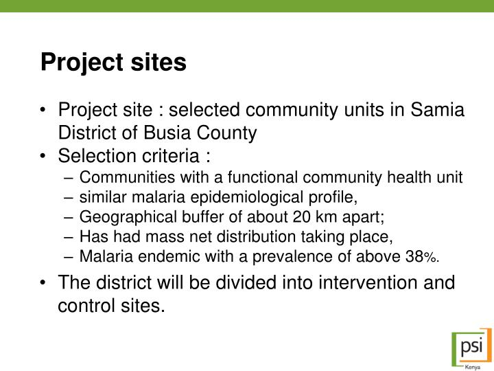 Project sites