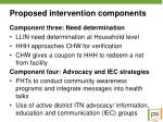 proposed intervention components1