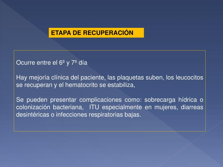 ETAPA DE RECUPERACIÓN