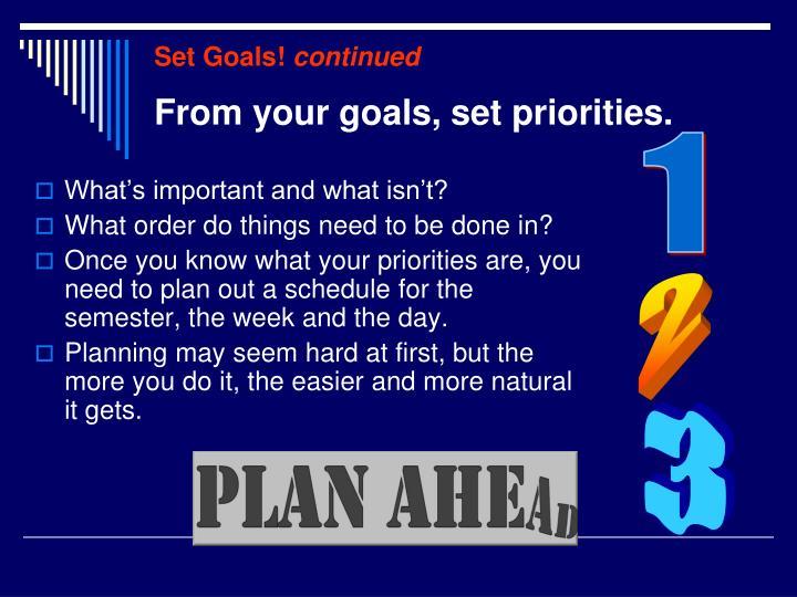 Set Goals!