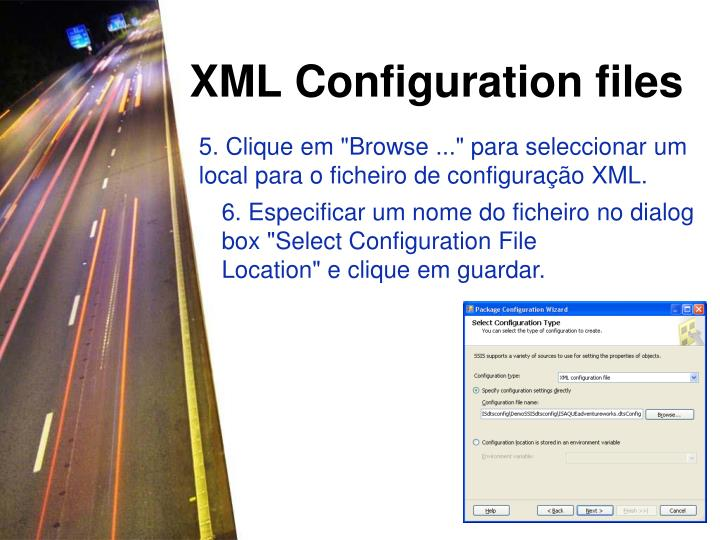 XML Configuration files