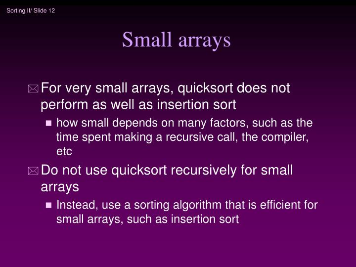 Small arrays