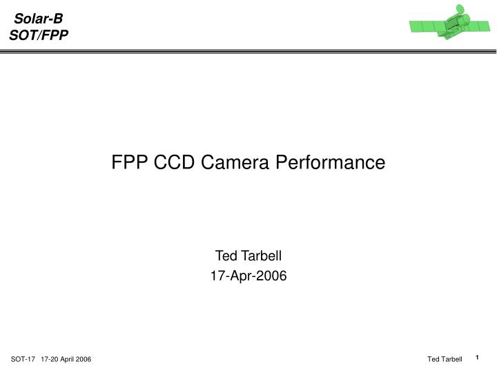 Fpp ccd camera performance