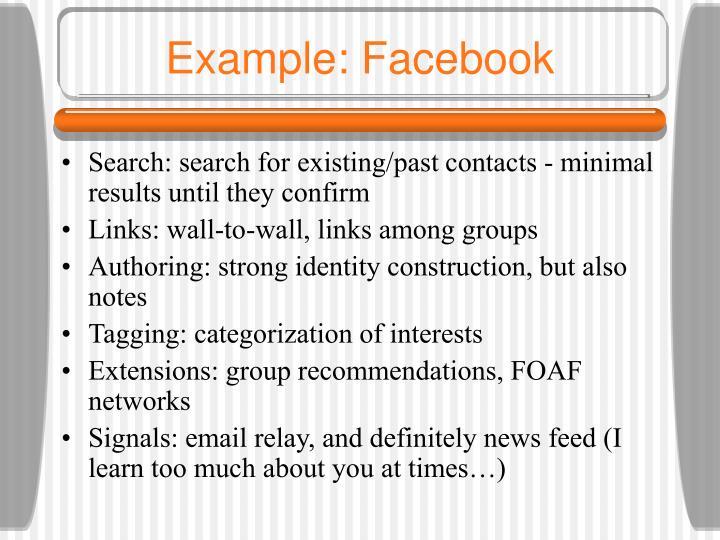 Example: Facebook