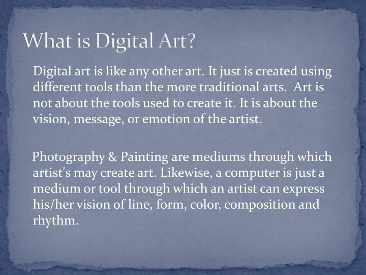 What is Digital Art?