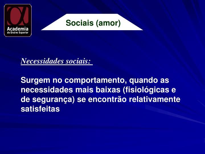 Sociais (amor)