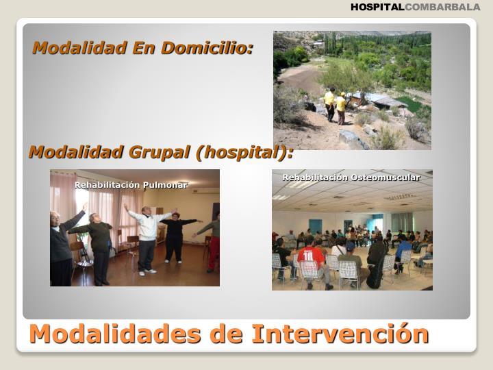 Modalidad En Domicilio: