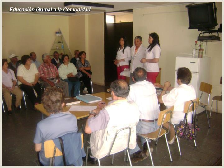 Educación Grupal a la Comunidad