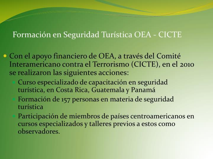 Formación en Seguridad Turística OEA - CICTE