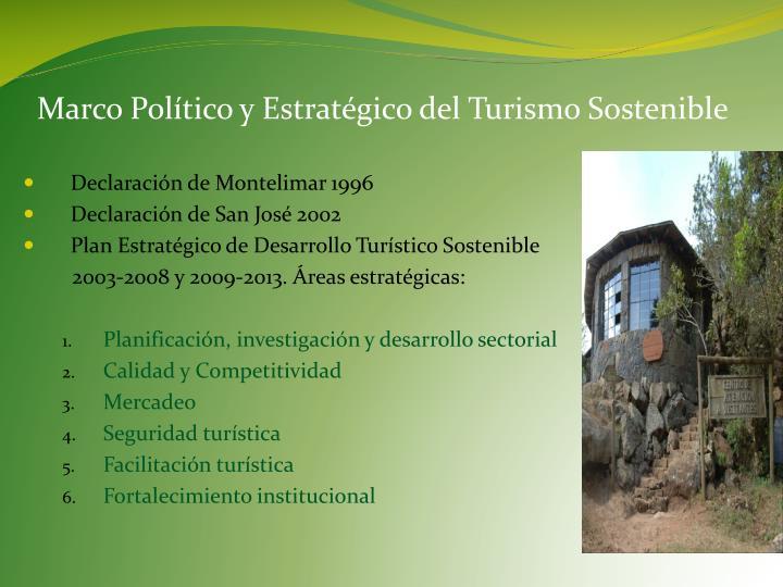 Marco Político y Estratégico del Turismo Sostenible