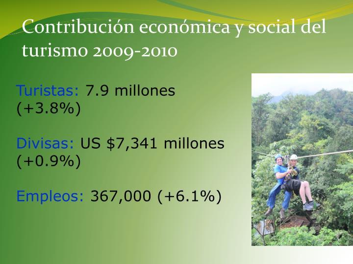 Contribución económica y social del turismo
