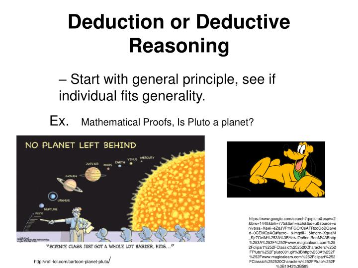 Deduction or Deductive Reasoning