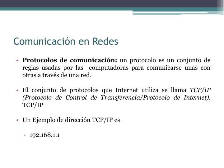 Comunicación en Redes