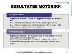 resultater motorikk